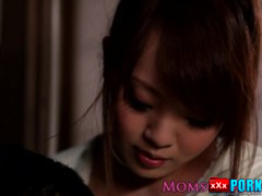 Japanese milfs bigtits get jizzed closeup