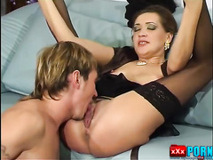 Aunt seduced by a nephew. Russian incest