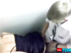 Drunken graduate school fuck in the school toilet. Hidden camera porn