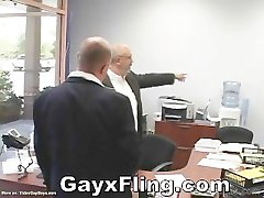 Gay Bear Couple Hardcore In Office