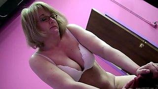 Sybian Pleasure For A Kinky Mature Blonde
