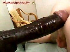 Giant dildo for his ass