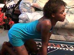 skinny ebony girl otk paddled