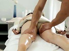 Big knocker Russian girl gets a voluptuous massage