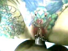 Busty tattooed milf pov