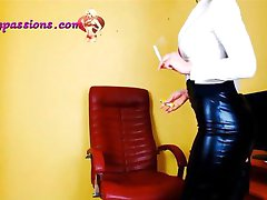 Sexy secretary smoking!