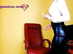Sexy secretary smoking!