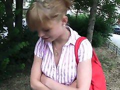 Czech amateur babe fucking in public