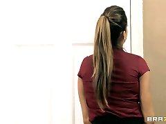 Big tit brunette Brazilian boss slut fucks her employee in office