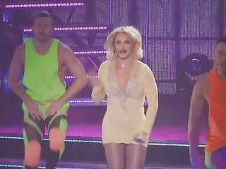 Britney Spears Gorgeous Legs Flashing Panties