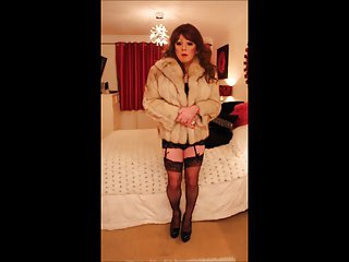 Sindy in fur and bodycon slip