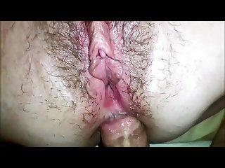 Amateur anal creampie