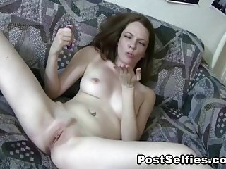 Homemade Masturbating Solo Orgasm Sniffing Own Pussy