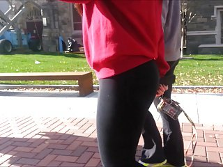 College Cheekz 1 FAT PAWG ASS IN TIGHTS!!!