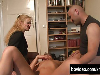 German couple fucking for an old teacher