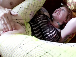 Chubby punk slut nailed hardcore by a horny guy with a hard