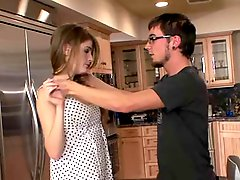 Cute Redhead Teen Fucked in the Kitchen