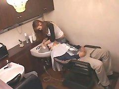 The hot hairdresser Japanese